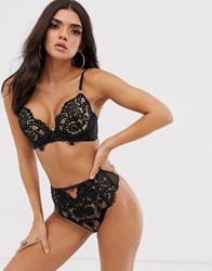 Ann Summers Fiercely Sexy Lace And Sequin Detail Bra In Black