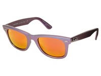 Ray Ban Rb2140 Iridescent Colored Wayfarer 50Mm Mars Metallic Oil Brown Mirror Pink Fashion Sunglasses Purple
