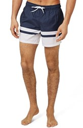 Topman Men's Block Stripe Swim Trunks