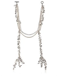 Venna Swarovski And Multi Chain Necklace