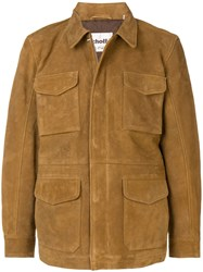 Schott Fitted Leather Jacket Brown