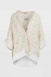 Maison Ullens Chunky Knit Cape Multicolor Sole