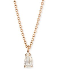 Anita Ko Rose Cut Diamond Pendant Necklace In 18K Rose Gold 0.77Ct