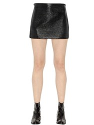 Courreges Vinyl Cotton Mini Skirt