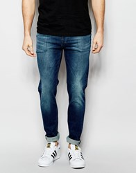 Asos Skinny Jeans With Tint Blue