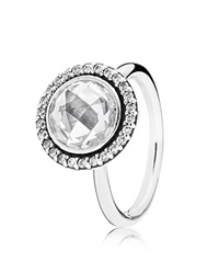Pandora Design Pandora Ring Sterling Silver And Cubic Zirconia Brilliant Legacy Silver Clear