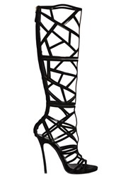 Dsquared 120Mm Suede Cage Boots