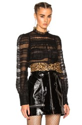 Isabel Marant Ronny Victorian Story Blouse In Black