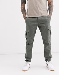 Esprit Slim Fit Cargo Trouser In Grey