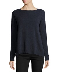 Autumn Cashmere Reversible Colorblock Cashmere Sweater