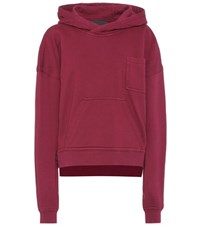 Haider Ackermann Cotton Jersey Hoodie Purple