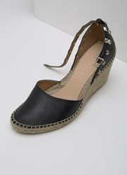 Mint Velvet Orla Black Espadrille Wedge Black