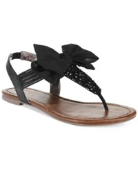 Material Girl Swan Flat Thong Sandals Only At Macy's Women's Shoes Black