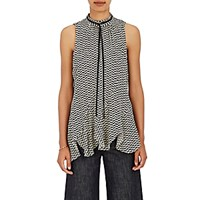 Derek Lam Women's Silk Sleeveless Blouse Ivory