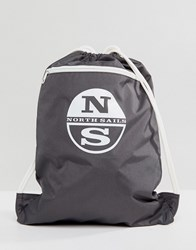 North Sails Gym Backpack In Grey Lead 0950