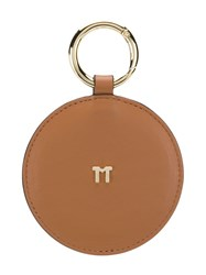 Tila March Round Handbag Mirror Brown