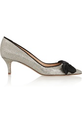 J.Crew Glitter Finished Leather Pumps