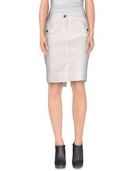 Yes Zee By Essenza Skirts Knee Length Skirts Women White