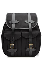 Filson Twill Backpack With Leather Black