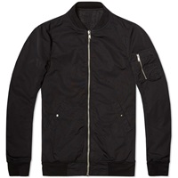 Rick Owens Drkshdw Nylon Flight Jacket Black