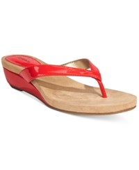 Styleandco. Style And Co. Haloe Wedge Thong Sandals Only At Macy's Women's Shoes