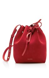 Mansur Gavriel Mini Bucket Bag Red
