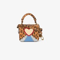 Sophie Hulme Leopard Heart Mini Bag Multicolour