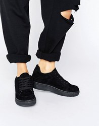 Blink Lace Up Trainer Black Micro