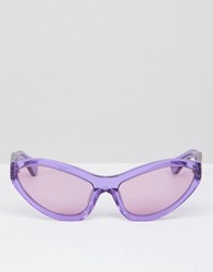 House Of Holland Lilac Extreme Cat Eye Sunglasses Purple