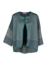 Devotion Knitwear Cardigans Women Green