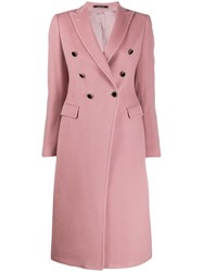 Tagliatore Double Breasted Coat Pink