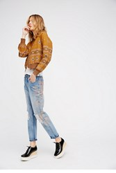 Free People Womens Stencil And Destroy Jean