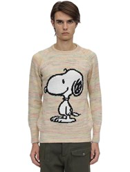 Lc23 Jacquard Snoopy Acetate Blend Sweater White