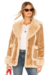 Mother The Faux Fur Patch Pocket Trapper Brown