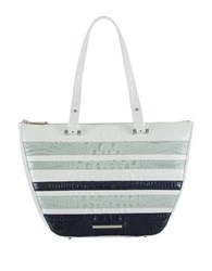 Brahmin Willa Colorblock Crocodile Embossed Carryall