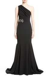 Badgley Mischka Couture. Women's Couture Odessa Embellished One Shoulder Gown