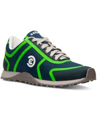 Ccilu Men's Porter Pace Casual Sneakers From Finish Line Navy Emerald Grey