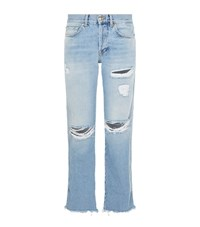 7 For All Mankind Jared Distressed Detail Jeans Female Blue