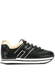 Hogan Panelled Sneakers Black