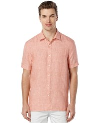 Perry Ellis Men's Chambray Short Sleeve Shirt