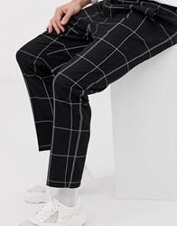 Weekday Tailored Trousers In Black And White Check