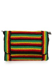 Rachel Comey Lea Striped Crochet Clutch