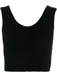 Versace Rib Knit Sleeveless Cropped Top 60