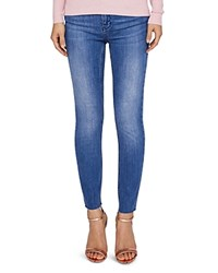 Ted Baker Aaciee Raw Hem Skinny Jeans In Mid Wash