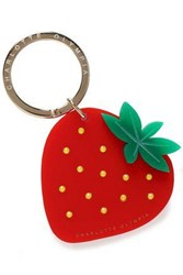 Charlotte Olympia Crystal Embellished Resin Keychain Red