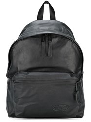 Eastpak Leather Backpack Black