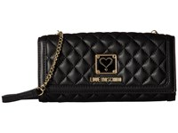 Love Moschino Quilted Wallet Bag Black