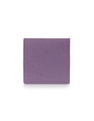 Pineider City Chic Calfskin Square Coin Purse Lilac