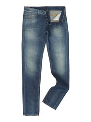 United Colors Of Benetton Medium Wash Mid Rise Jeans Denim Mid Wash