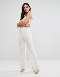Love Pleated Wide Leg Pant White